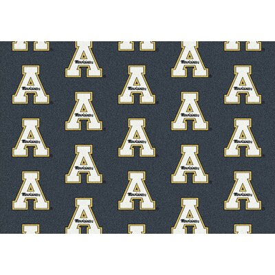 NCAA Team Repeating Novelty Rug Rug Size: Rectangle 109 x 132, NCAA Team: Appalachian State