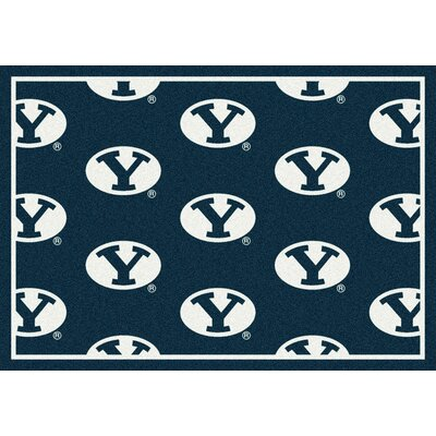 College Repeating NCAA Brigham Young Novelty Rug