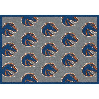 NCAA Repeating Boise State Novelty Rug Rug Size: 109 x 132
