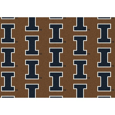 Collegiate II Illinois Fighting Illini Rug Size: 109 x 132