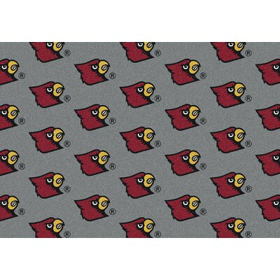 College Repeating NCAA Louisville Novelty Rug