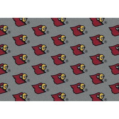 NCAA Collegiate II Louisville Novelty Rug Rug Size: 109 x 132