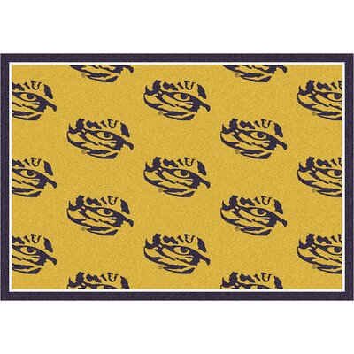 NCAA Collegiate II LSU Novelty Rug Rug Size: 109 x 132