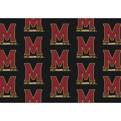 NCAA Collegiate II Maryland Novelty Rug Rug Size: 109 x 132