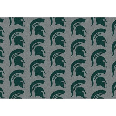 College Repeating NCAA Michigan State Novelty Rug