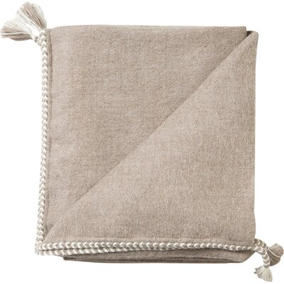 Bregoa Baby Alpaca Throw Color: Oak