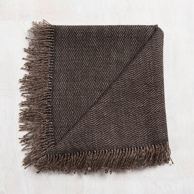 Mesa Baby Alpaca Throw Color: Mohagony
