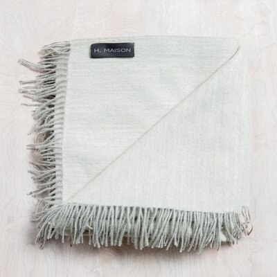 Auri Baby Alpaca Throw Color: Mist