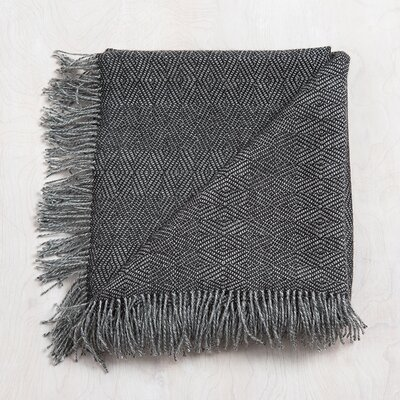 Mesa Baby Alpaca Throw Color: Charcoal