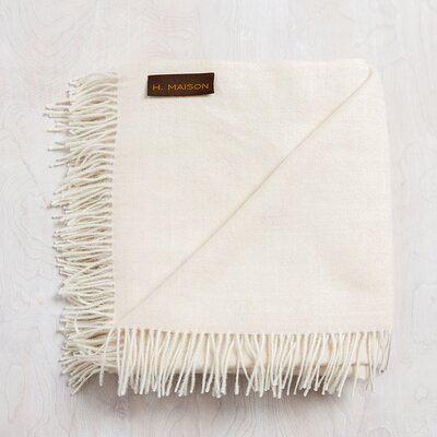 Auri Baby Alpaca Throw Color: Birch