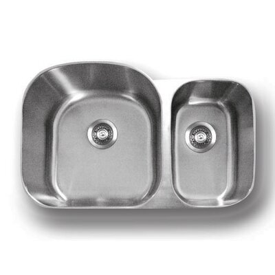 Genesis 32.5 x 20.75 Double Bowl Kitchen Sink
