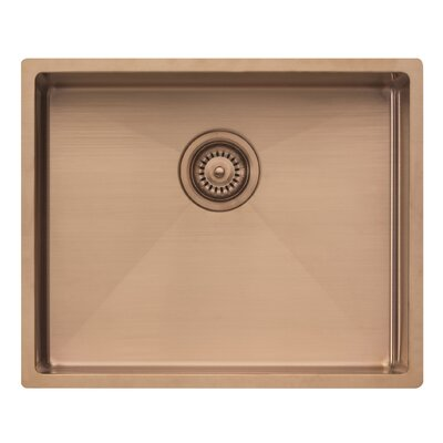 Spectra 17.25 x 21.25 Single Bowl Kitchen Sink Finish: Copper