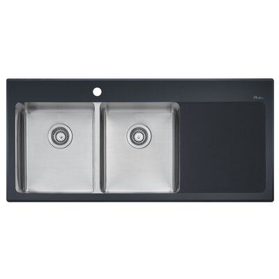 Vetro 47 x 21.5 Double Bowl Kitchen Sink
