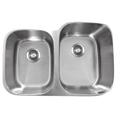 Genesis 20.75 x 32 Double Bowl Kitchen Sink