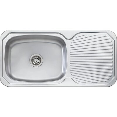 Brisbane 38.63 x 18.88 Single Large Bowl Kitchen Sink