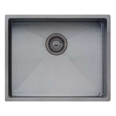 Spectra 17.25 x 21.25 Single Bowl Kitchen Sink Finish: Gun Metal