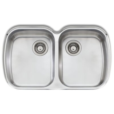 Adelaide 32.25 x 19.75 Double Bowl Kitchen Sink