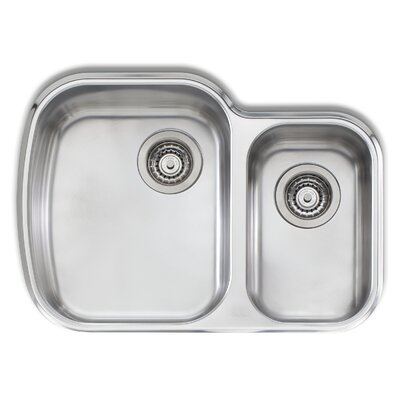 Adelaide 27.63 x 19.75 Compact Double Bowl Kitchen Sink