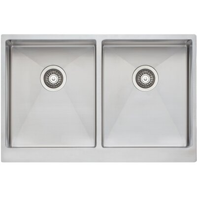 33 x 21 Double Bowl Kitchen Sink