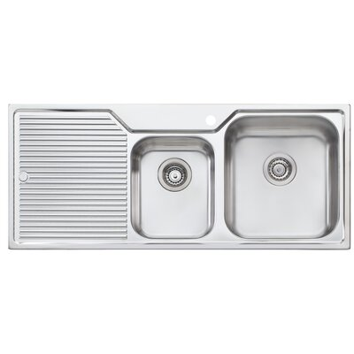 Canberra 45.25 x 19.75 Double Bowl Kitchen Sink