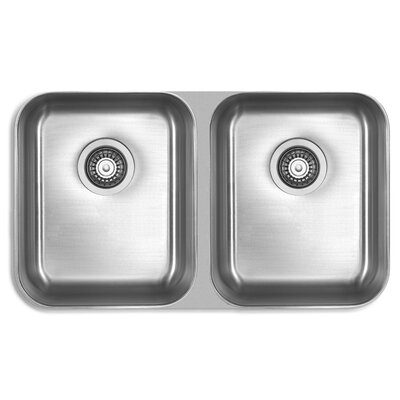 Genesis 32.25 x 18.5 Double Bowl Kitchen Sink