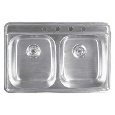 Genesis 33 x 22 Double Bowl Kitchen Sink