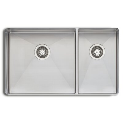 Sonetto 31.25 x 18 Double Bowl Kitchen Sink