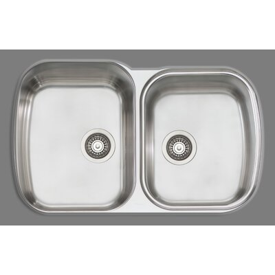 Melbourne 32.5 x 20.5 Double Bowl Kitchen Sink