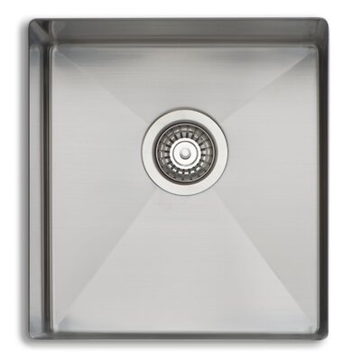 Professional 18 x 17 Single Bowl Kitchen Sink
