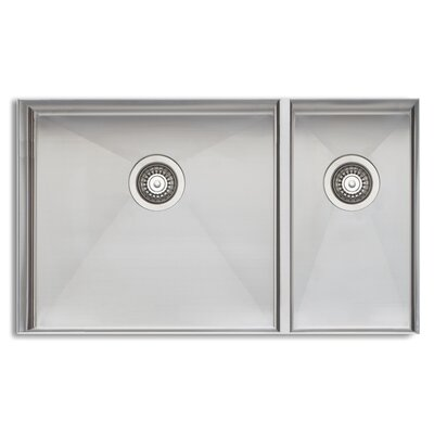 Sonetto 32 x 18 Double Bowl Kitchen Sink
