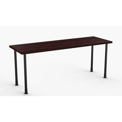 Allegro Training Table Tabletop Finish: Espresso, Size: 24 x 72