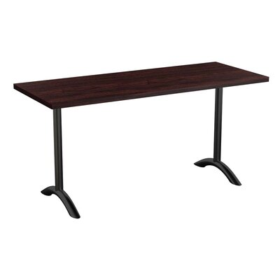 Sola Training Table Tabletop Finish: Espresso, Size: 24 H x 60 W