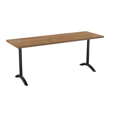 Sola Training Table Tabletop Finish: Burnished Teak, Size: 24 H x 72 W