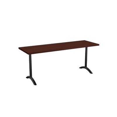 Sola Training Table Tabletop Finish: Mahogany, Size: 24 H x 48 W