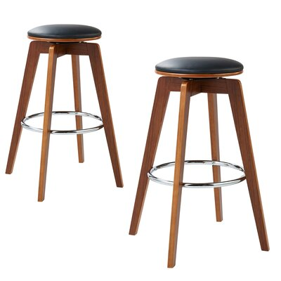Elegante Bentwood 36 Swivel Bar Stool