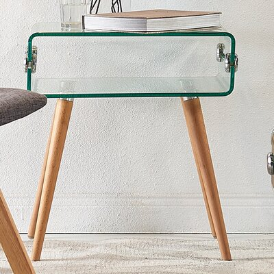 Cassetto Glass End Table