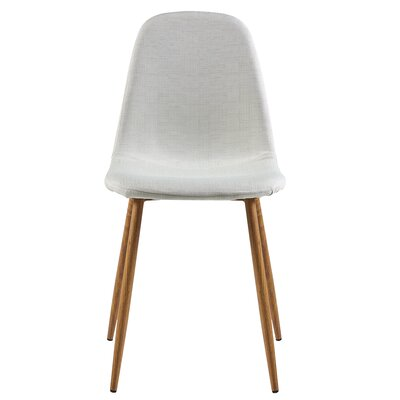 Minimalista Upholstered Dining Chair Upholstery Color: White