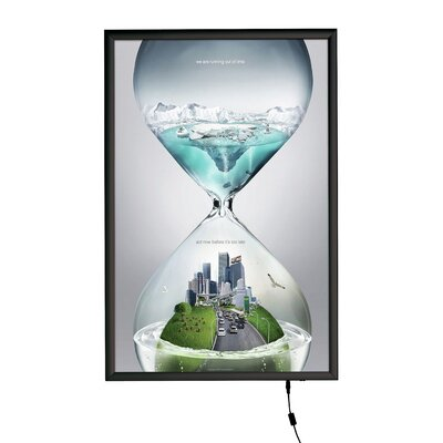 Smart LED Poster Box Size: 24 x 36, Color: Black