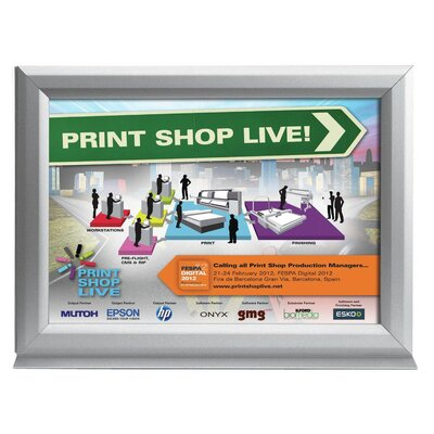 Counter Slide in Poster Frame Color: Silver