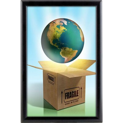 Opti Wall Mounted Poster Frame Size: 8.5 x 11, Color: Silver