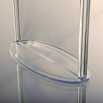 Oval Leaflet and Sign Holder Size: 6.18 H x 4.88 W x 2.56 D