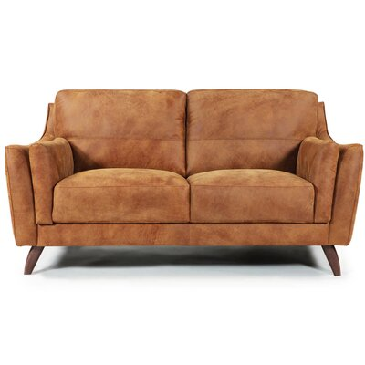 Piave Leather Loveseat
