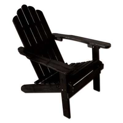 Poly Recycled Plastic Folding Adirondack Chair Finish: Black