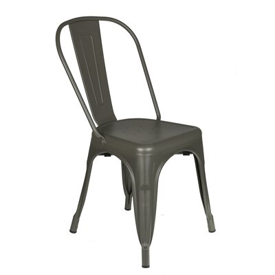 Jodie Metal Dining Chair Color: Gray
