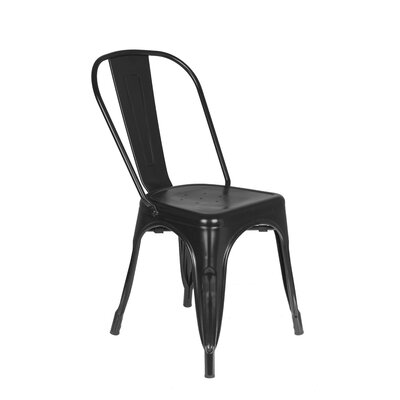 Kaliyah Metal Dining Chair Color: Black