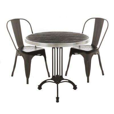 Malden Aluminum Bistro Table Top Color: Black