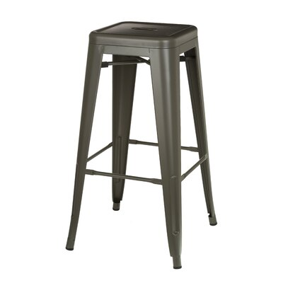 Abra Modern Metal Bistro 30 Bar Stool Finish: Gray
