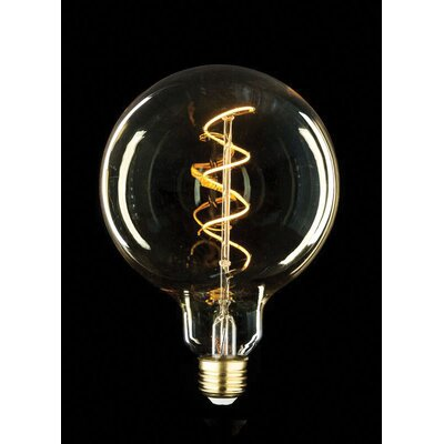 60W Equivalent Amber E26 LED Globe Edison Light Bulb