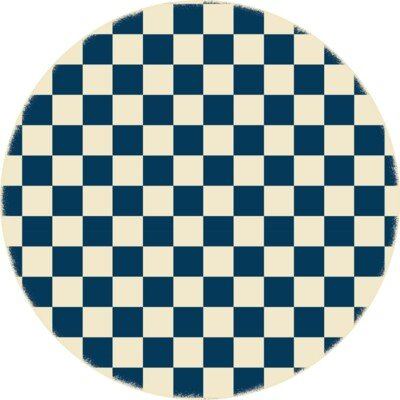 Catoe Checker Blue/Ivory Indoor/Outdoor Area Rug