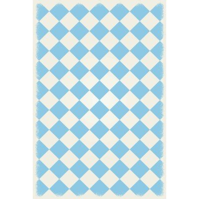 Welton Diamond European Design Light Blue/White Indoor/Outdoor Area Rug Rug Size: Rectangle 4 x 6